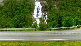 norway norway La cascata pittoresca archivi video