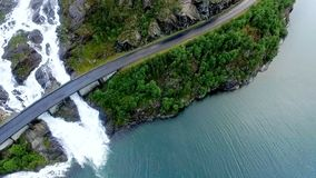 norway norway La cascata pittoresca stock footage