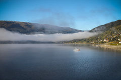 Norway lake and fog Stock Photos