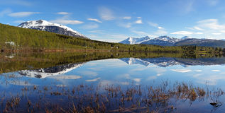 Norway lake at spring, Takvatnet Stock Photos