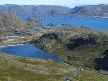 Norway landscape. Northern Norway landscape. View from the E69 road leading to the North Cape (Nordkapp Stock Photo