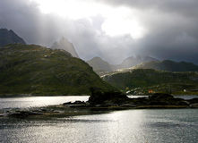 Norway landscape. Norwegian landscape, fjord in august Stock Photography