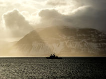 Norway Landscape. Norway Coast  Landscape in Winter Stock Photo
