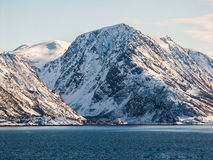 Norway Landscape. Norway Coast  Landscape in Winter Royalty Free Stock Photography