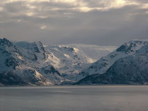 Norway Landscape. Norway Coast  Landscape in Winter Stock Image