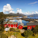 Norway Landscape Fishing Port stock photo