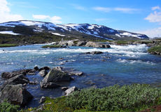 Norway landscape and mountains Royalty Free Stock Photography