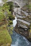 Norway landscape with stone bridge and river. Gudbrandsjuvet, Va Royalty Free Stock Photo
