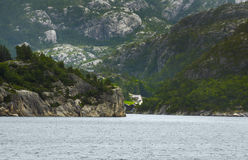 Norway landscapes.Beautiful Norwegian Fjords Stock Photography