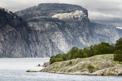 Norway landscapes. Beautiful Norwegian Fjords Royalty Free Stock Image