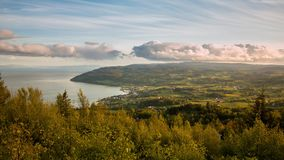 Norway, Leksvik - June 2015. Small village sunset. 4k time lapse footage. stock video