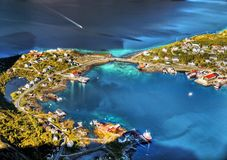 Norway, Lofoten Islands, Coast Landscape Mountains Fjords Royalty Free Stock Photography