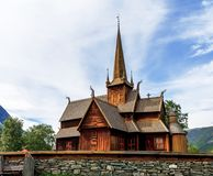 Lom`s stavkirke-wooden church of 12th century. Norway, Lom. Lom`s stavkirke-wooden church of 12th century Royalty Free Stock Images