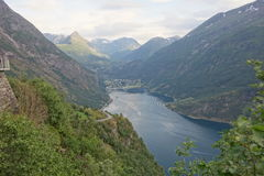 Norway - mountain landscape. Fiord Geiranger Stock Photography