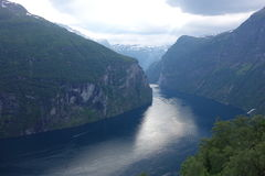 Norway - mountain landscape. Fiord Geiranger Royalty Free Stock Images