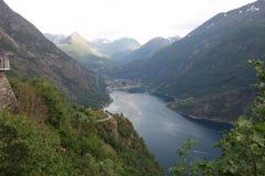Norway - mountain landscape. Fiord Geiranger Stock Photos