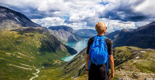 Norway, Mountain, Sky, Blue, Water Royalty Free Stock Photography
