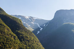 Norway mountains. Landscape with the mountains at Norway fjord Royalty Free Stock Images