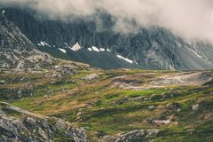 Norway Mountains Landscape Stock Image