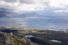 Norway mountains with the ocean Royalty Free Stock Photography