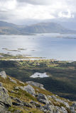 Norway mountains with the ocean Royalty Free Stock Images
