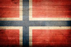 Norway national flag. Wood background stock photos