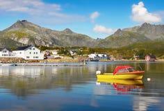 Norway, Nature Coast Mountain Landscape Stock Photos