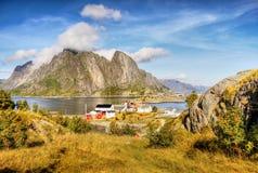 Norway, Nature Coast Mountain Landscape Stock Images