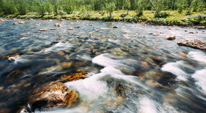 Norway Nature Cold Water Mountain River Royalty Free Stock Image