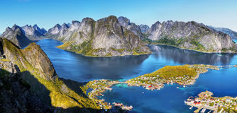 Norway, Nature Fjord Coast Mountain Landscape Royalty Free Stock Photos
