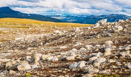 Norway Nature Mountain Landscape. Panoramic View Royalty Free Stock Photo