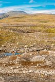 Norway Nature Mountain Landscape With Stones And Stock Photo