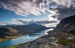 Norway nature sun and mountains Stock Images