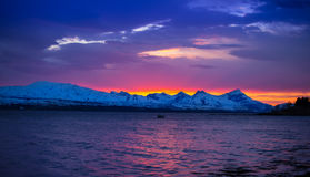 Norway. Norwegian Fjords and  mountains sunset Norway  Scandinavia Royalty Free Stock Photography