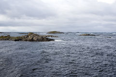 Norway ocean with islets Royalty Free Stock Photography