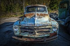 Old vintage Studebaker truck car Royalty Free Stock Image