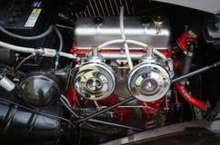 Old veteran vintage car engine. Norway, 2012: Old veteran vintage car engine Royalty Free Stock Image