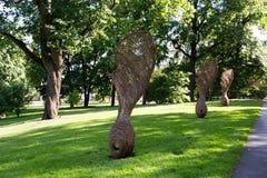norway oslo Jätte- skulpturer av lönnfrukt royaltyfria bilder