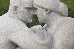 Norway, Oslo. Vigeland park sculpture woman and man. Travel tour Stock Image