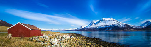 Norway. Panoramic view Country side Scandinavia Royalty Free Stock Images