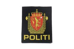 Norway Police Badge. Norway Police Clothing Badge stock photos