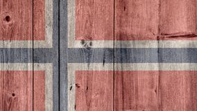 Norway Flag Wooden Fence. Norway Politics News Concept: Norwegian Flag Wooden Fence stock image