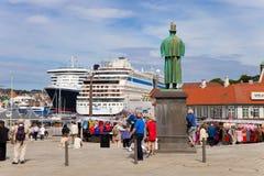 norway port stavanger Royaltyfri Fotografi