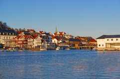 Norway port wooden houses buildings Stock Images