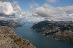 Norway, Preikestolen Stock Image