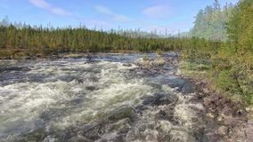Norway. Raging river in Engerdal stock footage