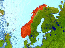 Norway in red Royalty Free Stock Photos