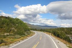 Norway road Royalty Free Stock Images