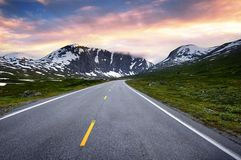 Norway road Royalty Free Stock Photo