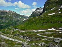 Norway-Road 63 to Geiranger Stock Image